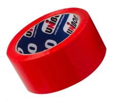 Клейкая лента красного цвета unibob размером 4,8смх66м
