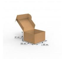 Коробка почтовая самосборная 100х100х60 профиль E