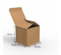 Коробка самосборная 110х110х110 с ушками, профиль E