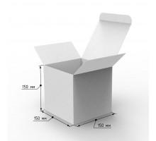 Коробка самосборная 150х150х150 с ушками белая, профиль E