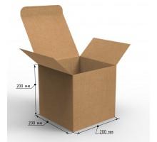 Коробка самосборная 200х200х200 с ушками белая, профиль E