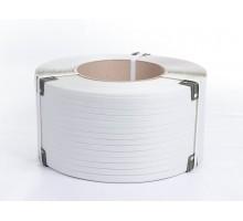Лента полипропиленовая 12 х 1800 х 0,8 мм, упаковочная (белая)