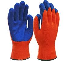 Перчатки акриловые с покрытием из латекса (зима)