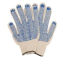 Рабочие перчатки с пвх из натурального хлопка 3 нити 10 класс