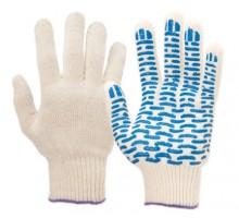 Рабочие перчатки с пвх из натурального хлопка 5 нитей 10 класс