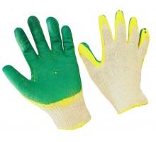 Хлопчатобумажные перчатки с двойным слоем латексного облива