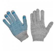Рабочие перчатки с пвх изготовлены из натурального хлопка из 4 нитей серого цвета