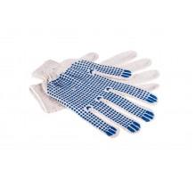 Рабочие перчатки с пвх изготовлены из натурального хлопка волна 7.5 класс 4 нити