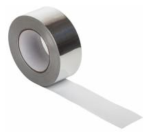 Скотч алюминиевый размером 10 см x 40 м предназначен для хозяйственных работ.
