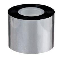 Скотч металлизированный серебристого цвета 50 мм x 50 м на пластиковой шпуле